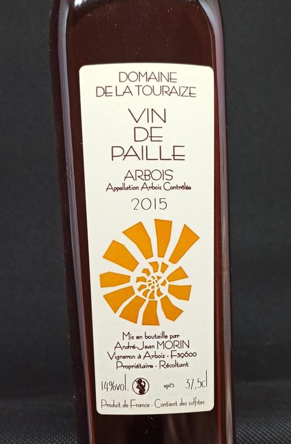 Close up vin de paille label
