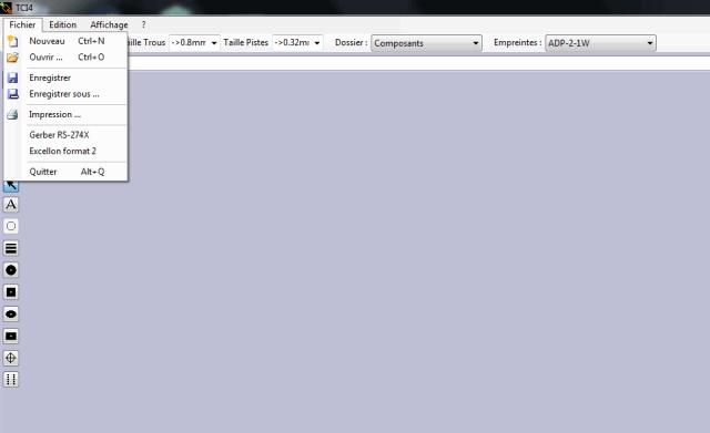 TCI menu fichier