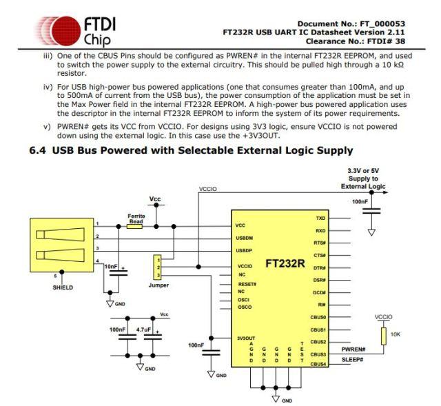Documentation RS232 FTDI
