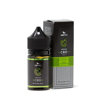 MEDTERRA Premium CBD Vape Liquid - Apple Watermelon