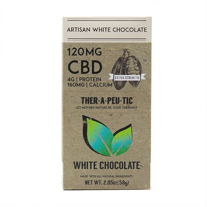 THER•A•PEU•TIC 120MG CBD White Chocolate Bar