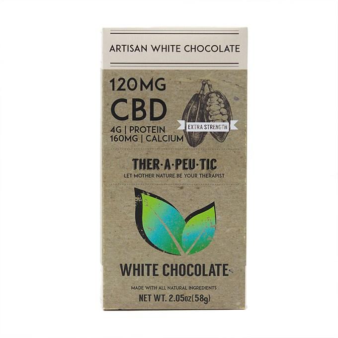 THER•A•PEU•TIC 120MG CBD White Chocolate Bar
