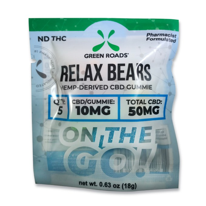 Green Roads Relax Bears CBD Gummie