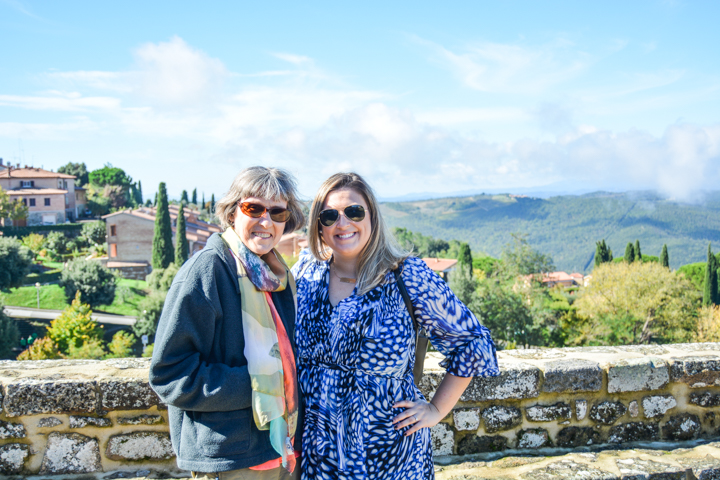 An afternoon in the town of Montalcino