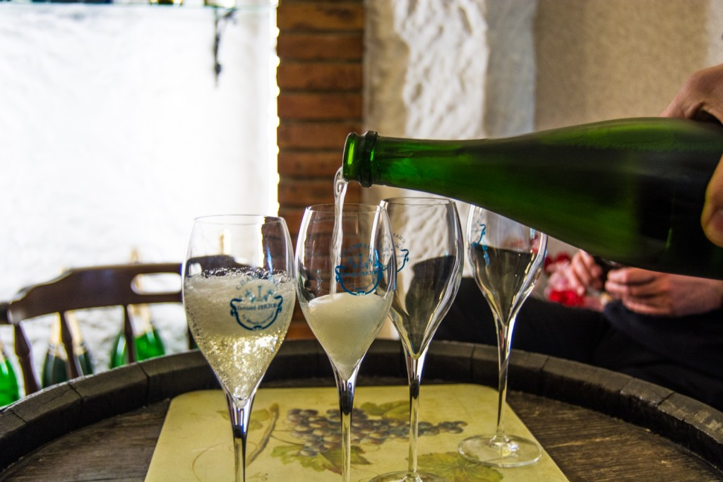 Champagne Bernard Pertois with Tasty Side to Life Tours