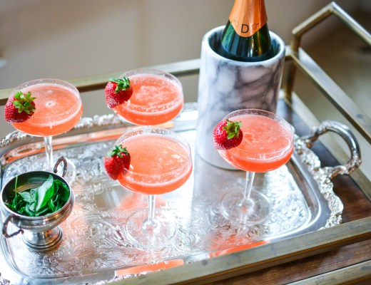 Summer Strawberry Sparkler Cocktail - Recipes - @lacegraceblog1