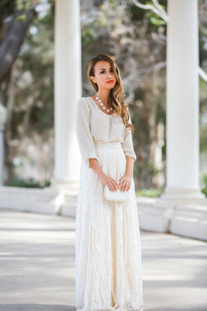 fashion blogger, petite fashion blog, fashionista, lace and locks, los angeles fashion blogger, urban outfitters maxi skirt, maxi skirt, lace maxi skirt, spring fashion, summer fashion, affordable fashion,streetstyle