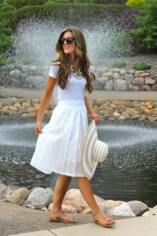 lace and locks, los angeles fashion blogger, white gingham midi skirt, chic street style, blogger collaboration, morning lavender boutique, morning lavender jewelry, affordable fashion