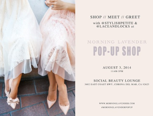 morning lavender pop-up shop, orange county fashion pop up, morning lavender boutique, women clothes pop up. social beauty lounge