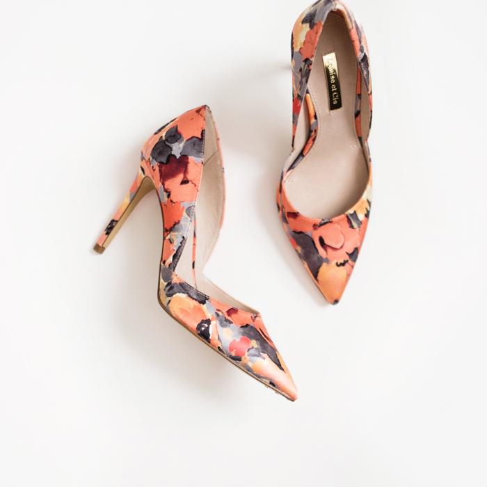 petite fashion blog, lace and locks, los angeles fashion blogger, spring fashion, floral pumps, nordstrom shoes