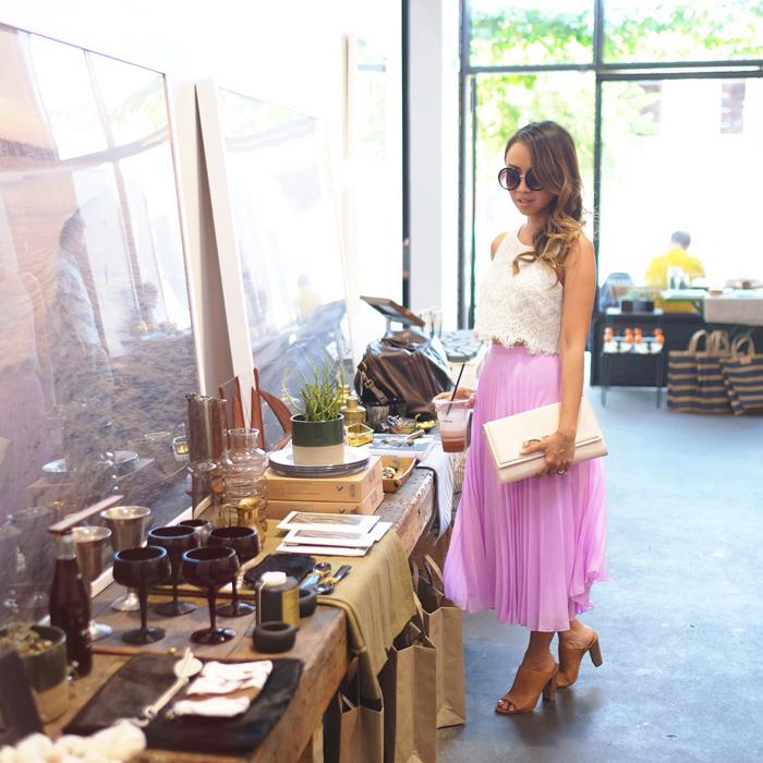 petite fashion blog, lace and locks, los angeles fashion blogger, spring fashion,  pink midi skirt