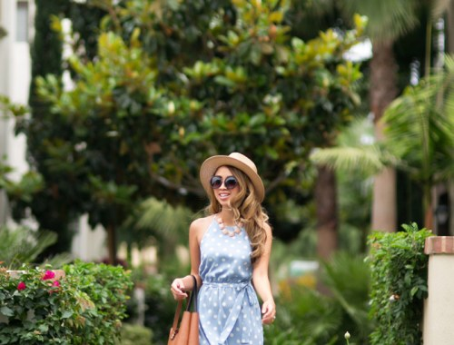 petite fashion blog, lace and locks, los angeles fashion blogger, polka dot maxi dress, ann taylor sale, summer fashion, maxi dresses