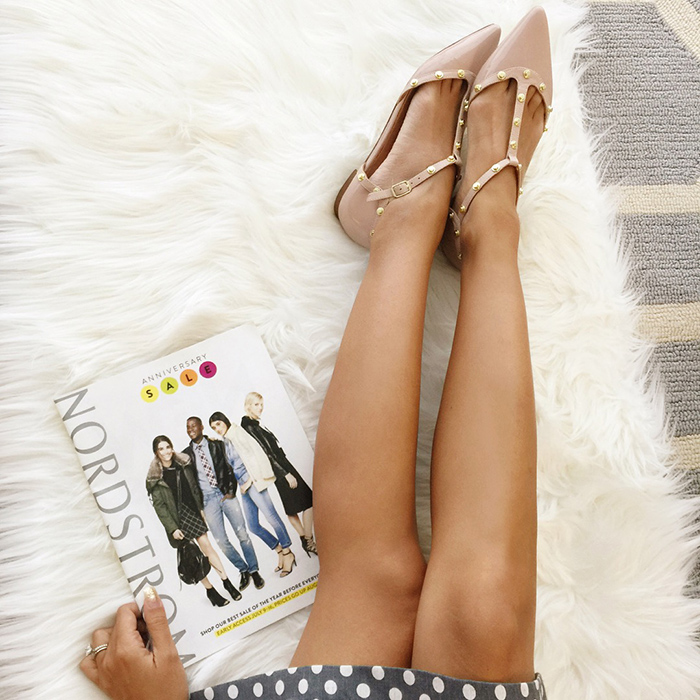 nordstrom anniversary sale, pointy flats, nordstrom sale, lace and locks