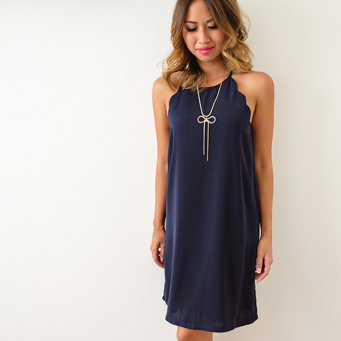 lace and locks, petite fashion blog, scallop dress, urban outfitters dress