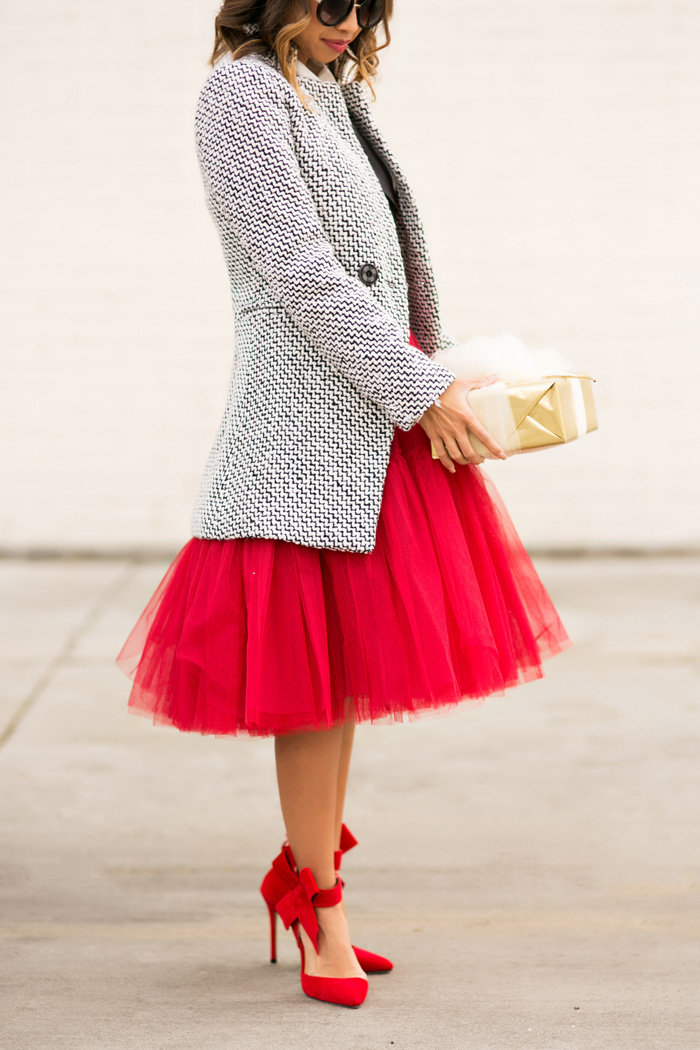 1b40ccfc53 lace and locks petite fashion blogger red tulle skirt, red .