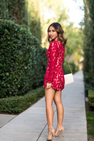 petite fashion blog, lace and locks, los angeles fashion blogger, morning lavender romper, red lace rompers, valentine's day outfit, cute rompers for women