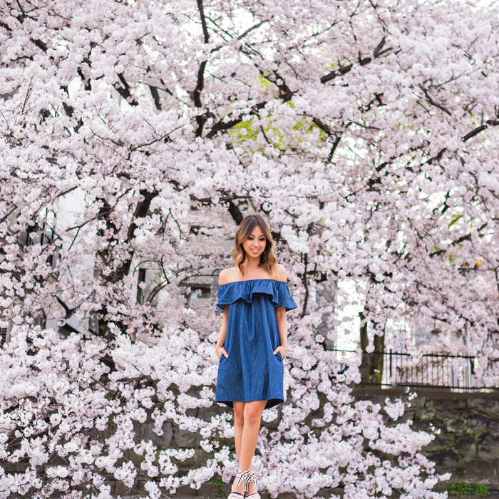 petite fashion blog, lace and locks, los angeles fashion blogger, japan travel diary, tokyo fashion blogger, morning lavender off the shoulder dress