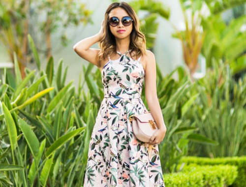 ace and locks, petite fashion blogger,floral midi dress, wedding guest dress, bow pumps, spring dresses, asos petite dress