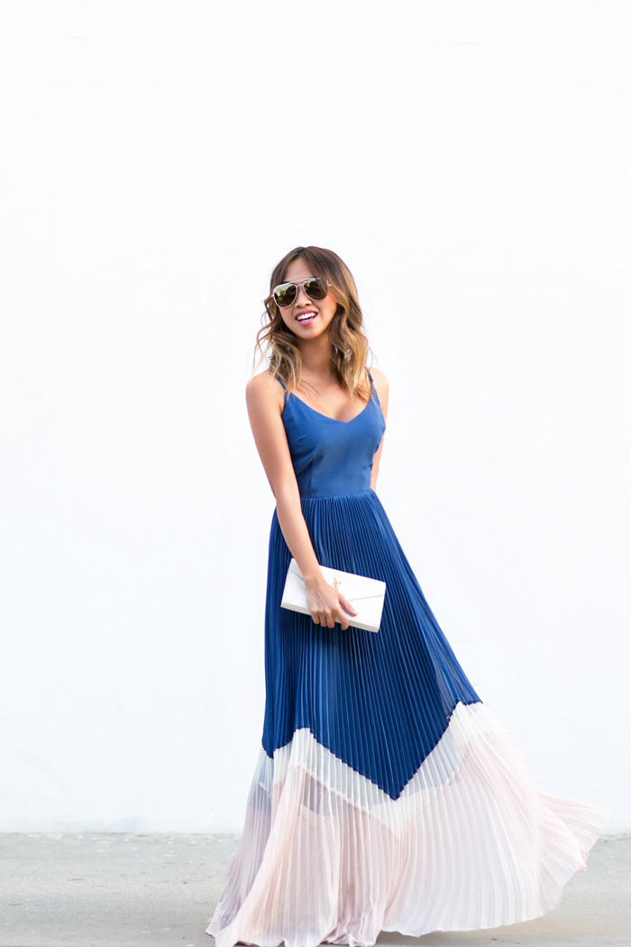petite fashion blog, lace and locks, los angeles fashion blogger, colorblock maxi dress, spring maxi dress, colorful maxi dress, cute spring outfits