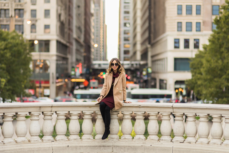 petite fashion blog, lace and locks, los angeles fashion blogger, oc fashion blogger, fall outfit, nordstrom fall fashion, camel coat, over the knee boots