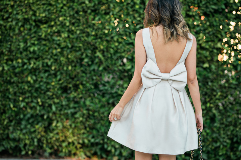 petite fashion blog, lace and locks, los angeles fashion blogger, oc fashion blogger, bow dress, morning lavender boutique, feminine fashion, valentines outfit