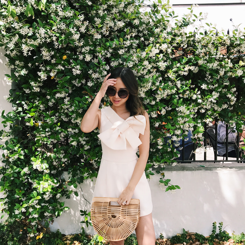 lace and locks, petite fashion blogger, oc fashion blogger, charleston travel, cute spring outfit, cult gaia ark bag, cute mules, cute spring look, spring rompers