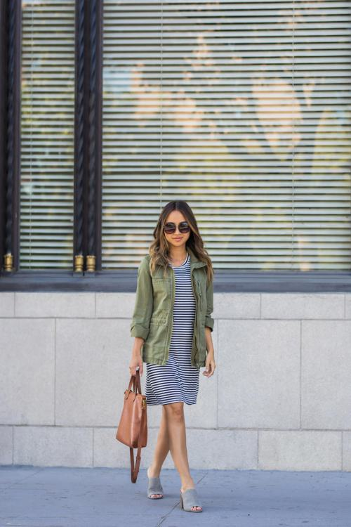 lace and locks, petite fashion blogger, lace midi dress, nordstrom fall fashion, olive jacket, fall transitional outfit, cute fall look, orange county blogger