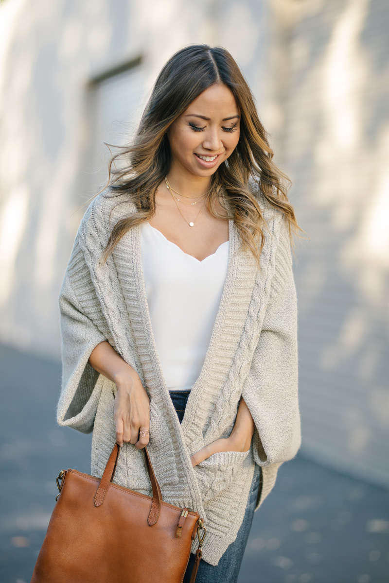 lace and locks petite fashion blogger fall poncho sweater – 04 ...