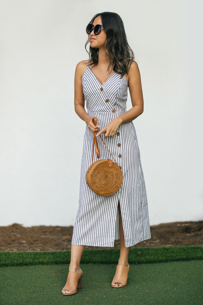 Morning Lavender Button Down Midi Dress