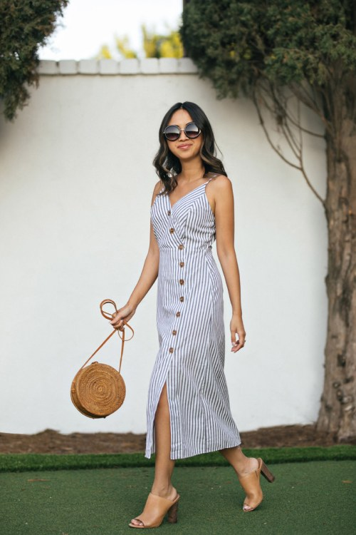 Morning Lavender Stripe Dress