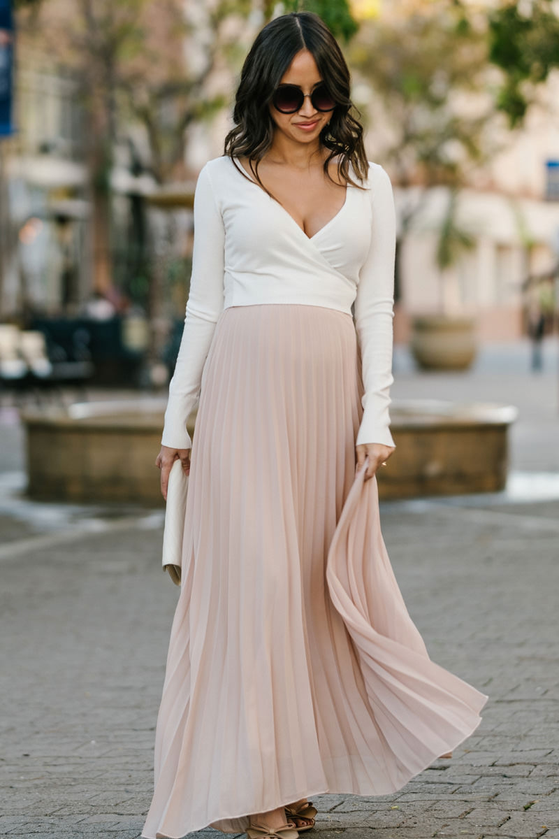 morning lavender maxi skirt