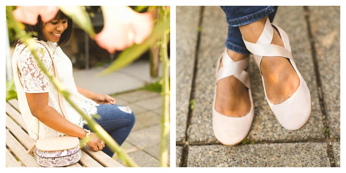 lace-blouse-ballerina-flats