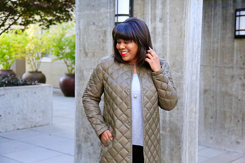 J.Jill has a large assortment of versatile pieces. My latest box was full of cozy fall pieces in dark tones that are easy to mix and match. Do great minds think alike or what?!