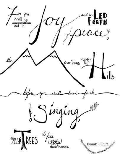 Isaiah 55:12 -- by laceandyarn.com