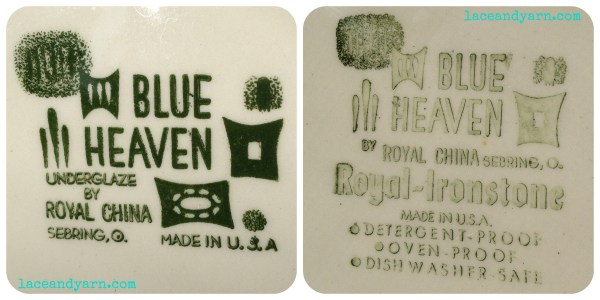 blue heaven by royal china stamp