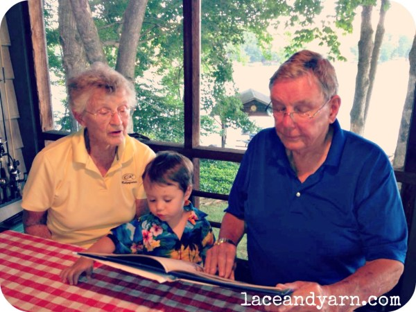 miles reading to grammy and granpy