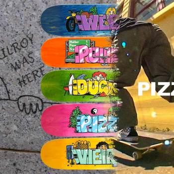 We spotlight new limited edition skateboard decks from Pizza Skateboards