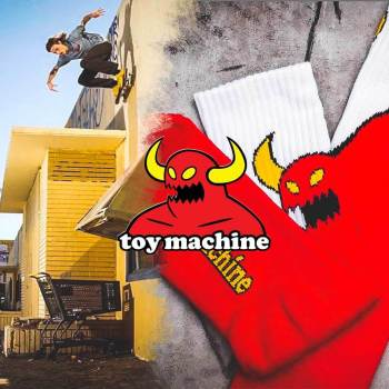 We showcase new socks from skateboard brand Toy Machine