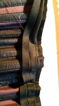 Binding sewn down