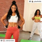 pilar sanders and lacee green fitness instructors