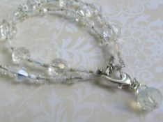 Here is a stacked bracelet with both the bold and delicate strand.