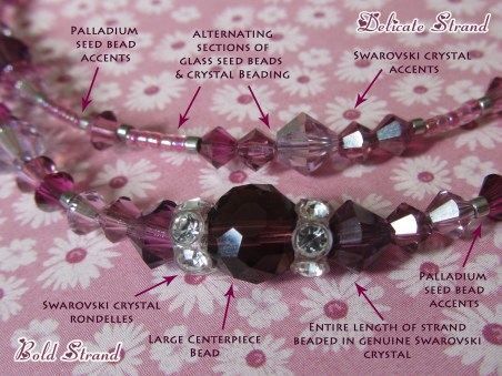 This image illustrates some of the main differences between bold and delicate strands.