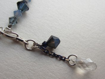"""A custon """"moonbeam"""" hook-up clasp is included in the set, as another personal touch."""
