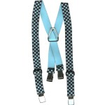 Checked Elastic Childs Suspenders - Turquoise/BlackChecked Elastic Childs Suspenders - Turquoise/Black