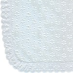 52 x70 White Eyelet Tablecloth52 x70 White Eyelet Tablecloth