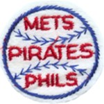 2'' - 5.1 cm - METS, PIRATES, PHILS Applique Patch - Red, Royal Blue2'' - 5.1 cm - METS, PIRATES, PHILS Applique Patch - Red, Royal Blue