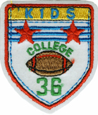 2 1/4'' by 2'' Iron On Kids College Applique2 1/4'' by 2'' Iron On Kids College Applique
