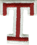 2'' by 1 5/8'' Iron On Letter T Applique2'' by 1 5/8'' Iron On Letter T Applique