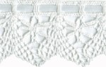 1 7/8'' White Lace Cluny With Satin Ribbon1 7/8'' White Lace Cluny With Satin Ribbon