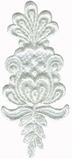 1 7/8'' by 4 1/4'' Sew On Applique - Ivory, White1 7/8'' by 4 1/4'' Sew On Applique - Ivory, White